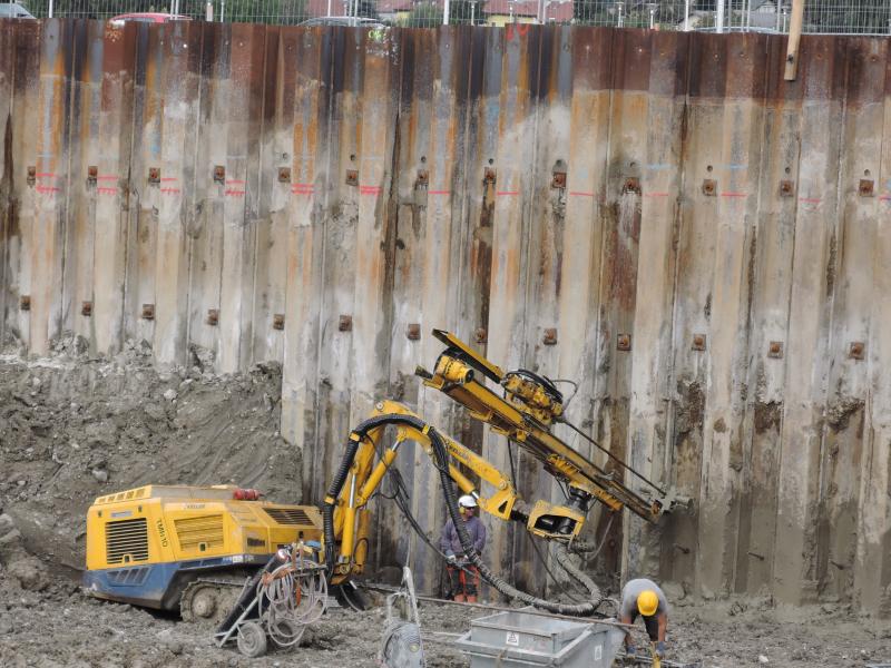 Baugrubensicherung Spundwand