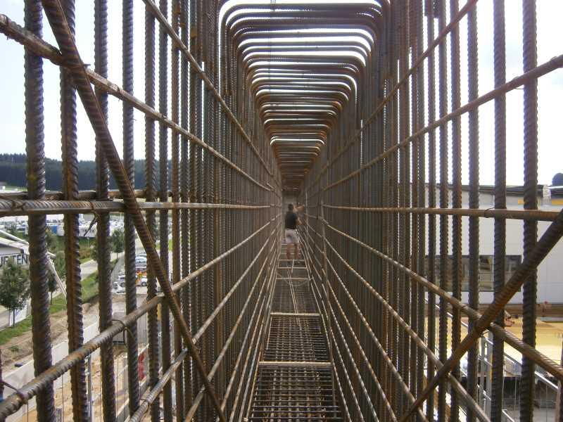 Stahlbeton-Bewehrung-Träger